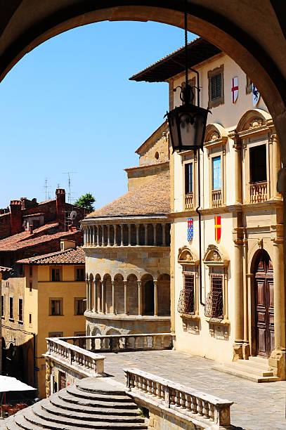 """Center Of Arezzo """"View Of The Historic Center Of Arezzo, Italy"""" arezzo stock pictures, royalty-free photos & images"""