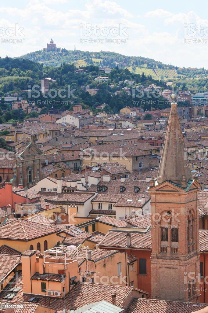 Center of Bologna, Emilia Romagna, Italy stock photo