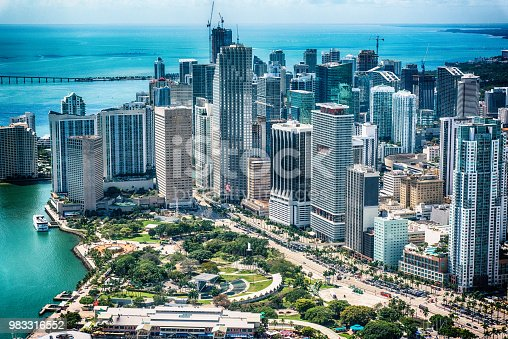 802893644 istock photo Center of Downtown Miami Aerial 983316552