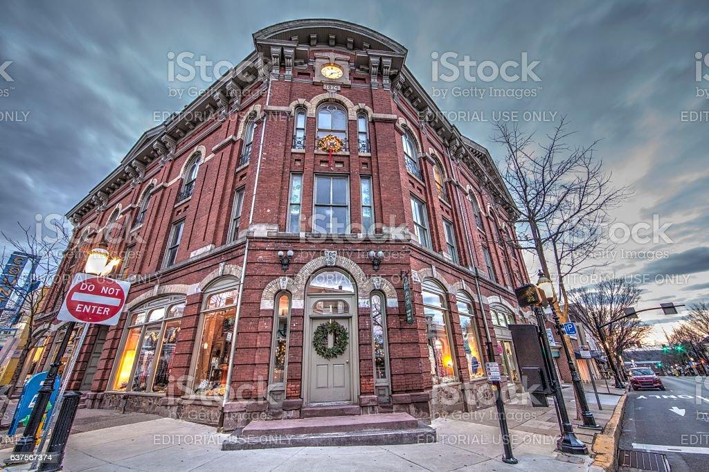 Center of Doylestown stock photo