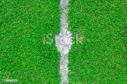 931661614 istock photo Center of football or soccer field 1138998224