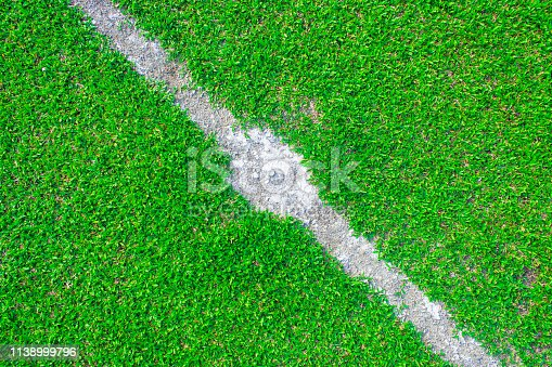 931661614 istock photo Center of football or soccer field 1138999796