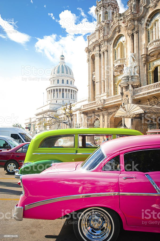 Center of La Havana, Cuba stock photo