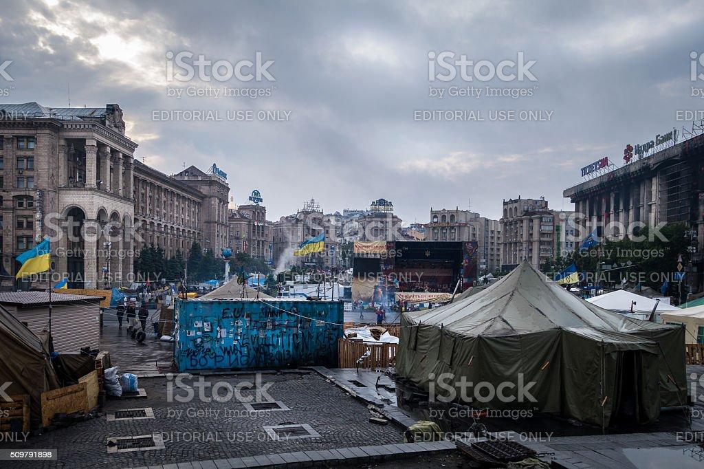 Center of Maidan Nezalezhnosti, Kiev, Ukraine royalty-free stock photo