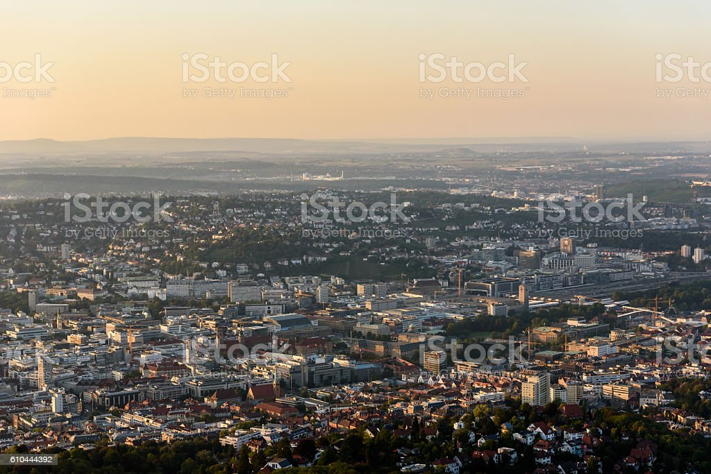 Center of Stuttgart City in Germany - beautiful historical city - Lizenzfrei Alt Stock-Foto