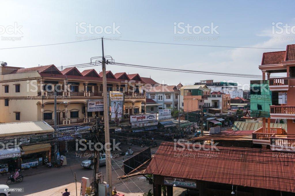 Centre de la ville, Siem Reap photo libre de droits