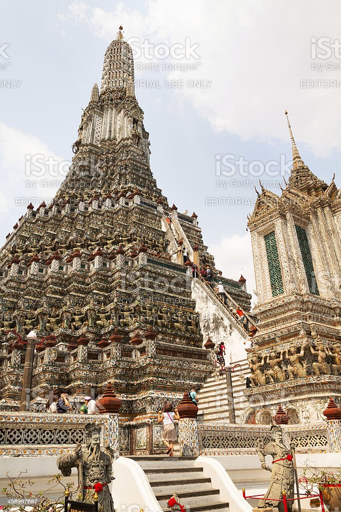 Center of Wat Arun royalty-free stock photo