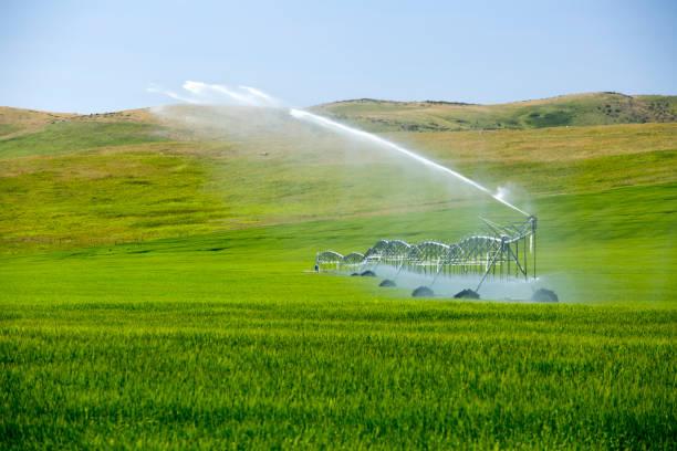 Center Pivot Irrigation Equipment stock photo