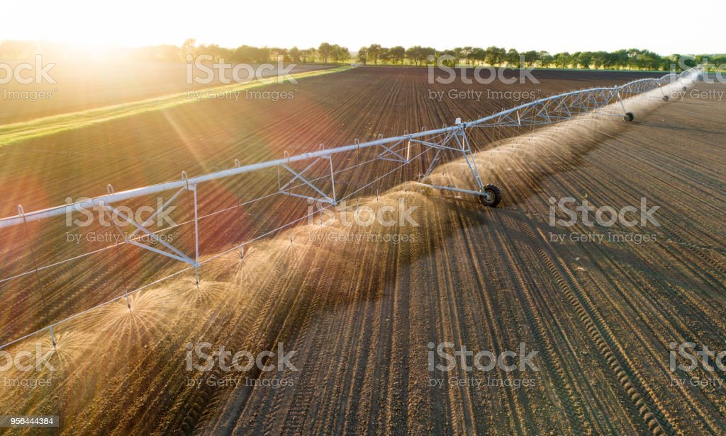 center pivot irrigation system in field stock photo amp more