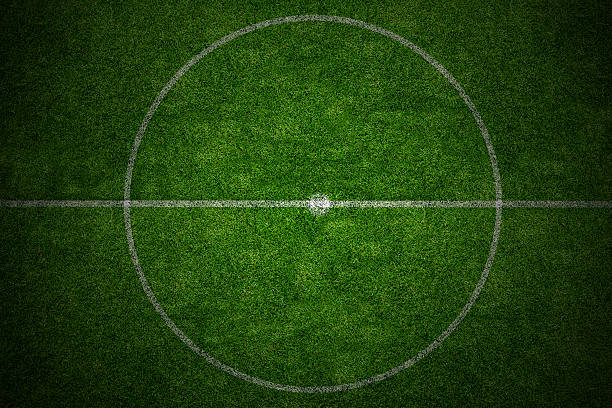 center soccer field stadium - midsection stock pictures, royalty-free photos & images