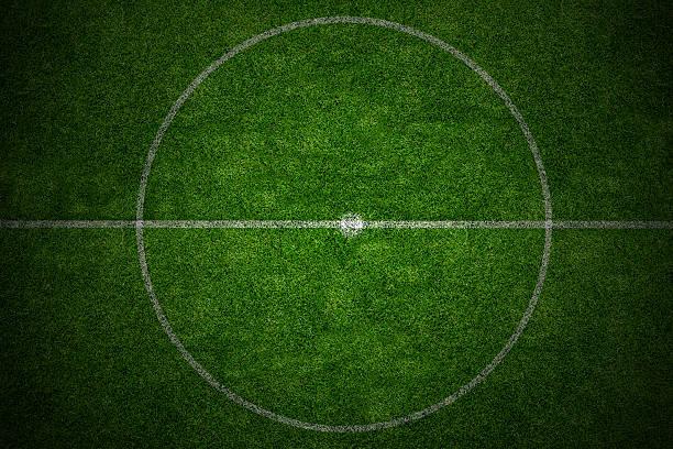 center soccer field stadium stock photo