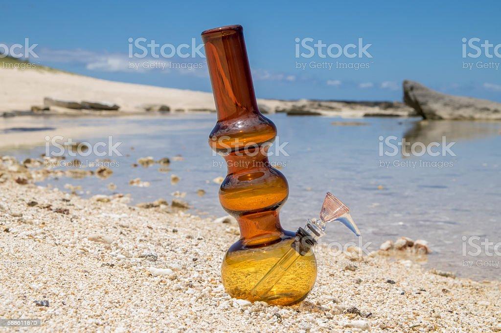 Centered Bong on the Beach stock photo