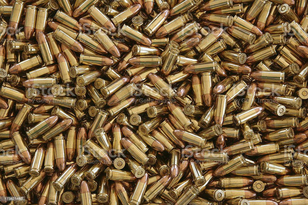 Centerfire Ammunition - 1000 rounds of 9mm stock photo