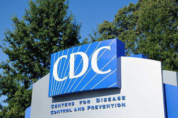 Centers for disease control and prevention sign stock photo