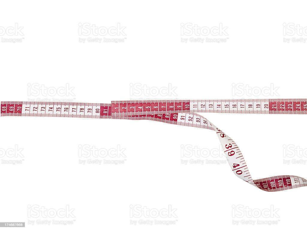 Centimeter tape measure with clipping path royalty-free stock photo
