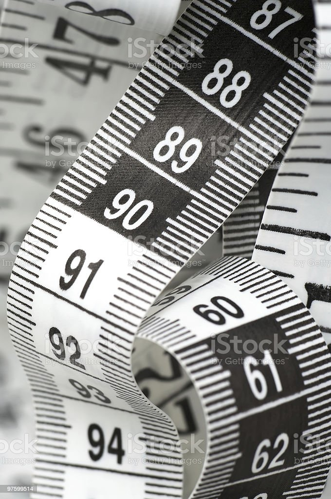 Centimeter With Numbers 90 And 60 royalty-free stock photo