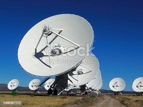 Centimeter-wavelength radio astronomy observatory, New Mexico.