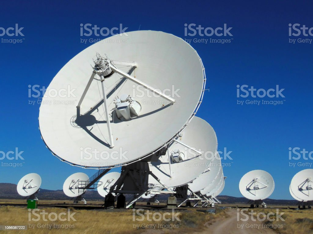 centimeter-wavelength radio astronomy stock photo