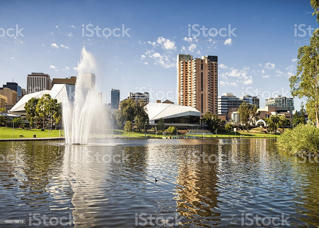 Central Adelaide stock photo