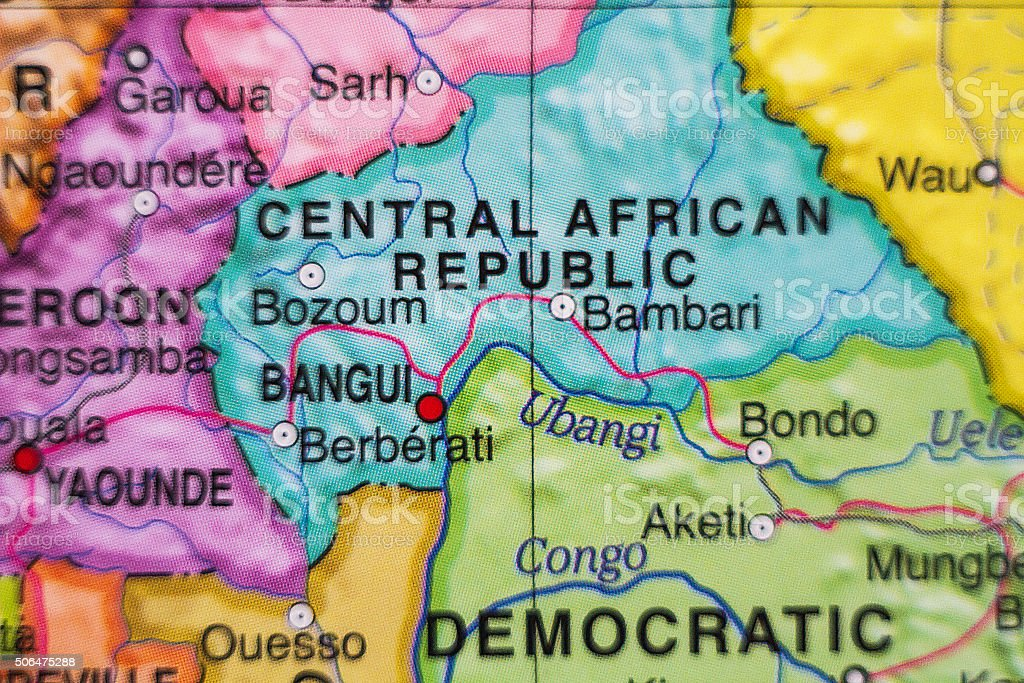 Central African Republic country map . stock photo