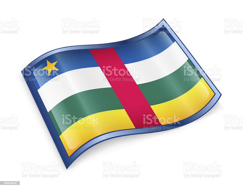 Central African Republic Flag icon. stock photo