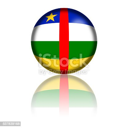 istock Central African Republic Flag Sphere 3D Rendering 537839168