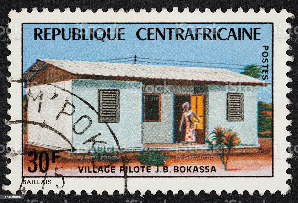 Central African Republic postage stamap royalty-free stock photo