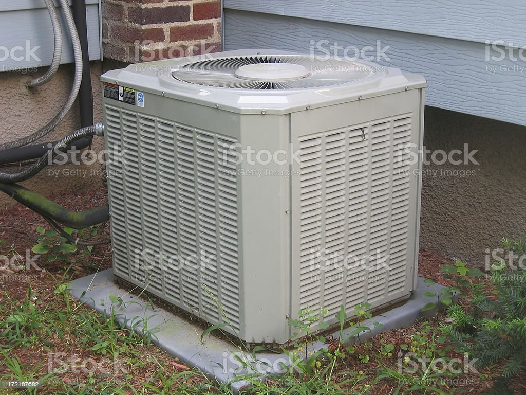 Central Air Conditioner stock photo