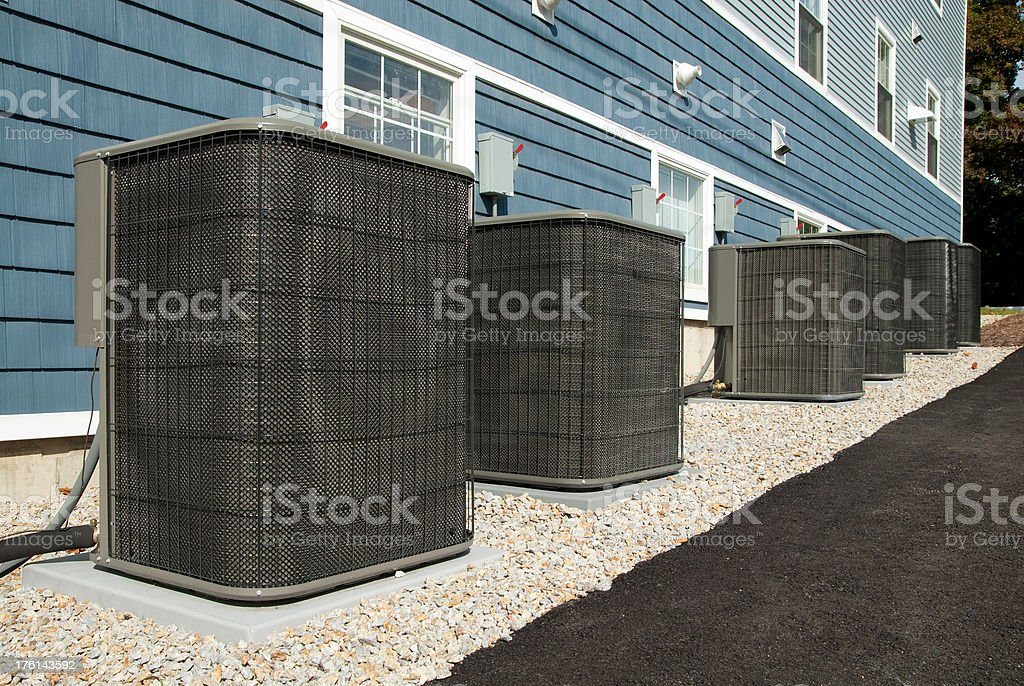 Central Air Conditioning Units royalty-free stock photo