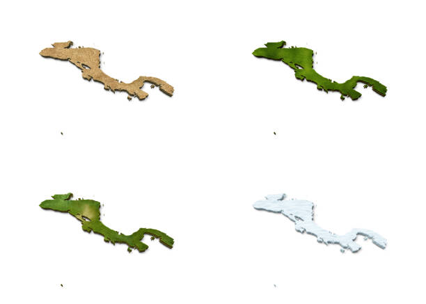 3D Central America Map stock photo