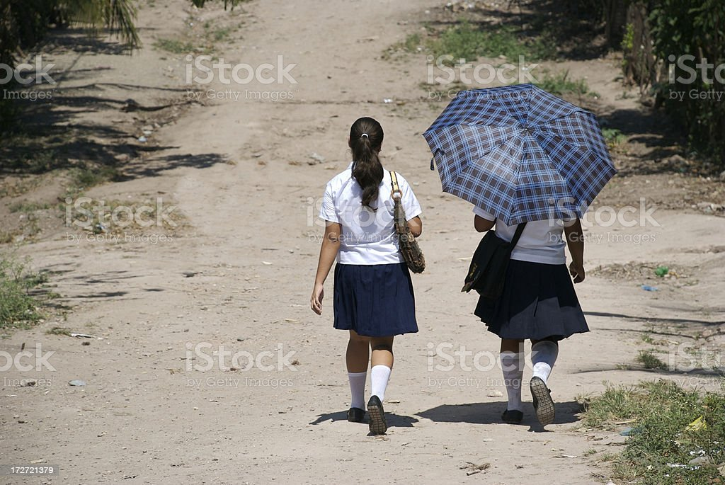 Central American Culture - School Girls royalty-free stock photo