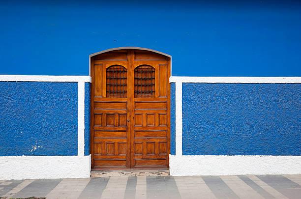 Central american door stock photo