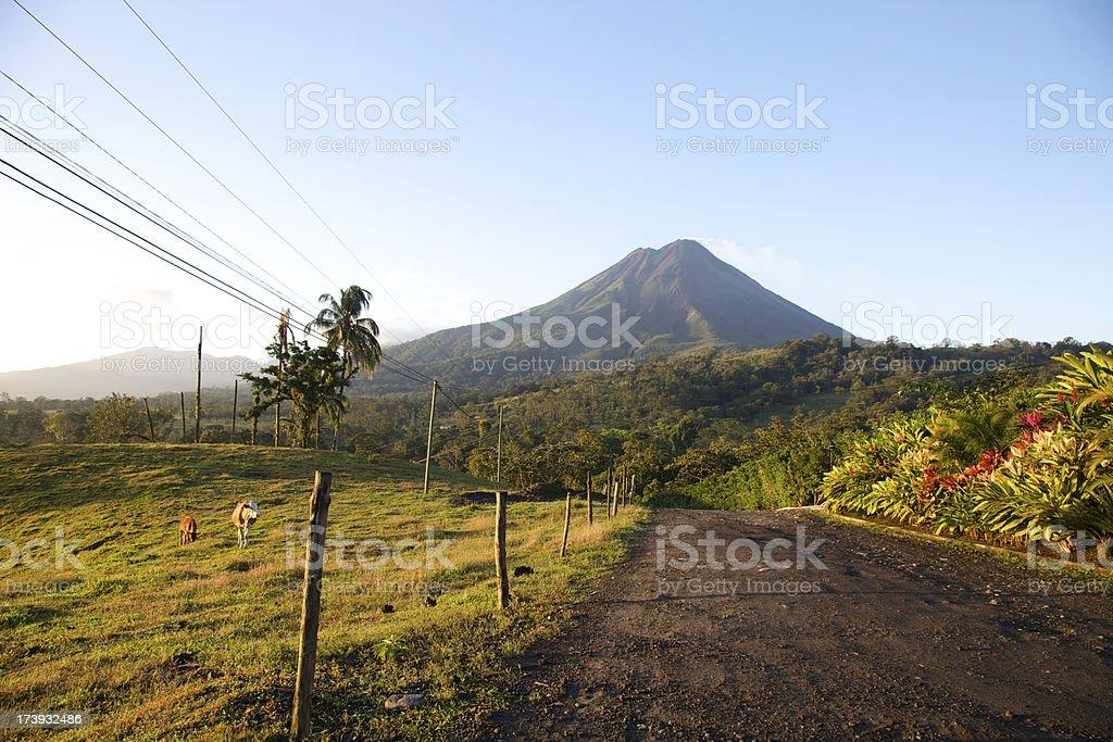 Central American Volcano in Costa Rica stock photo