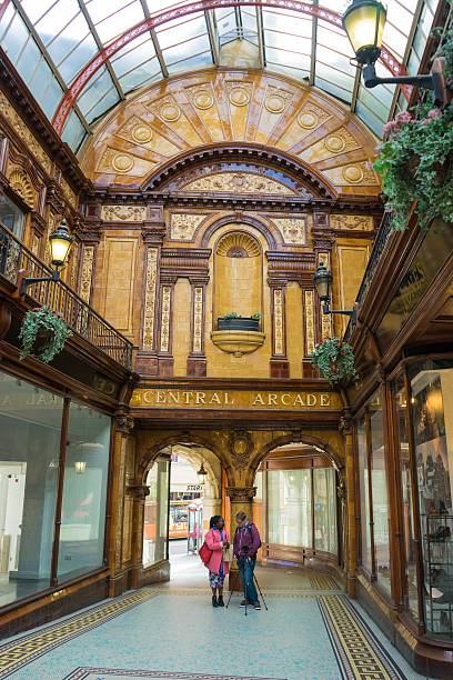 Central Arcade Newcastle stock photo