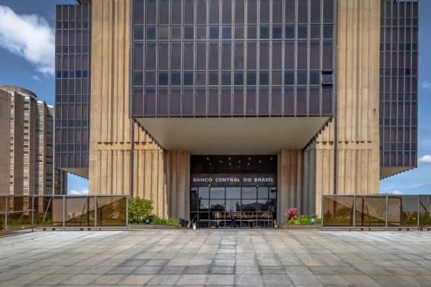Central Bank of Brazil headquarters building - Brasilia, Distrito Federal, Brazil stock photo