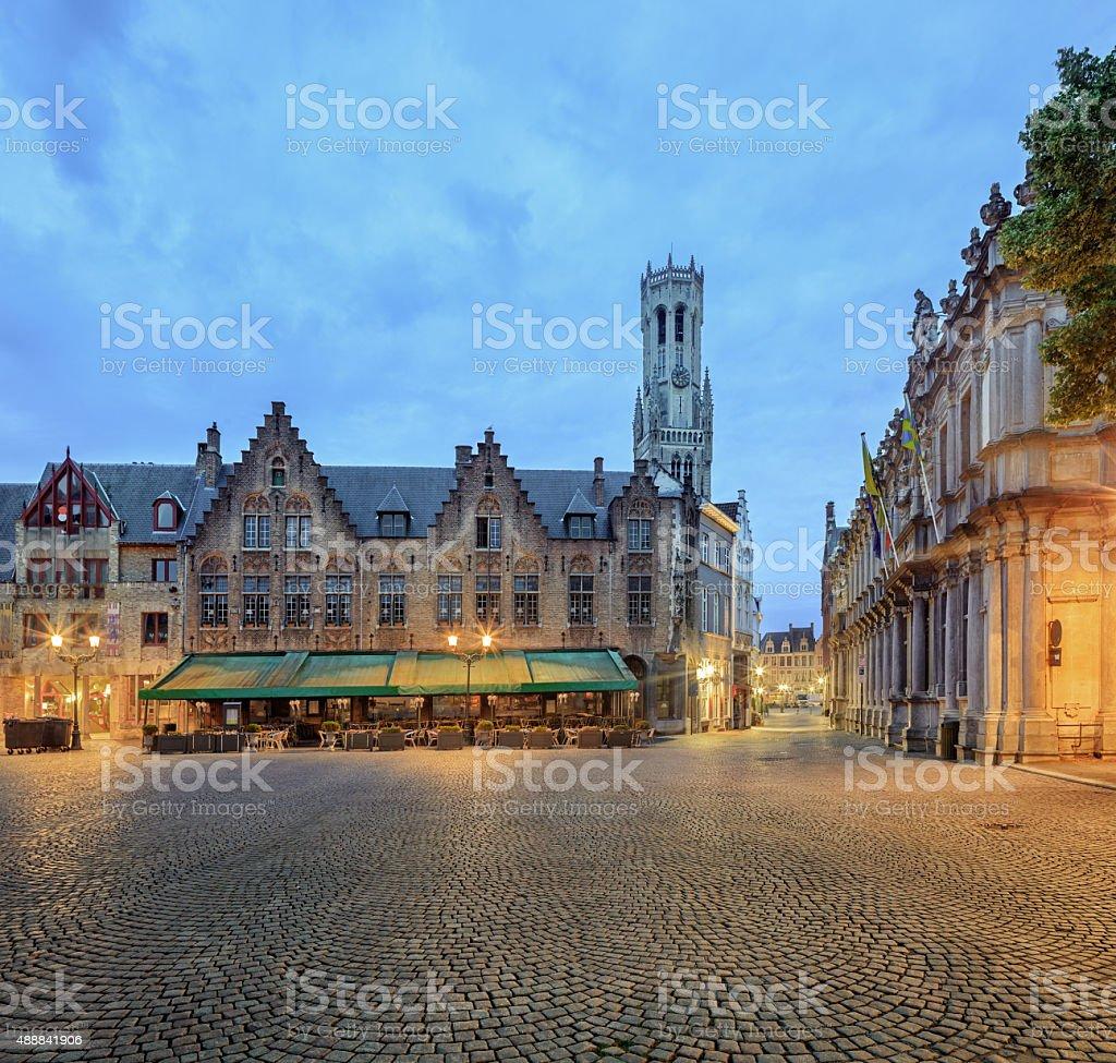 Central Bruges stock photo