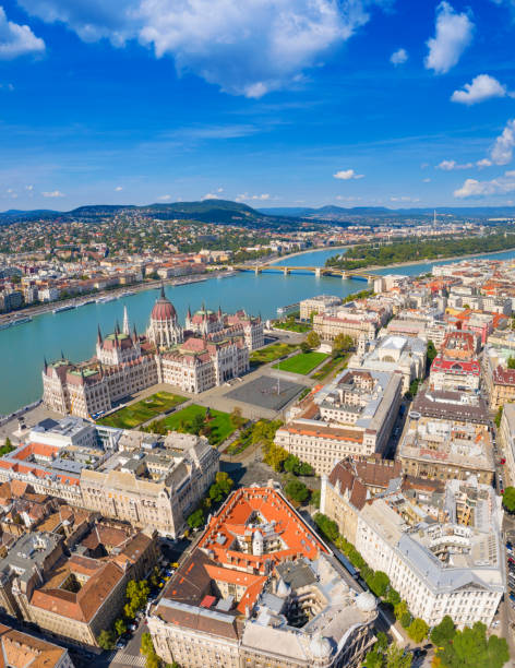 Central Budapest stock photo