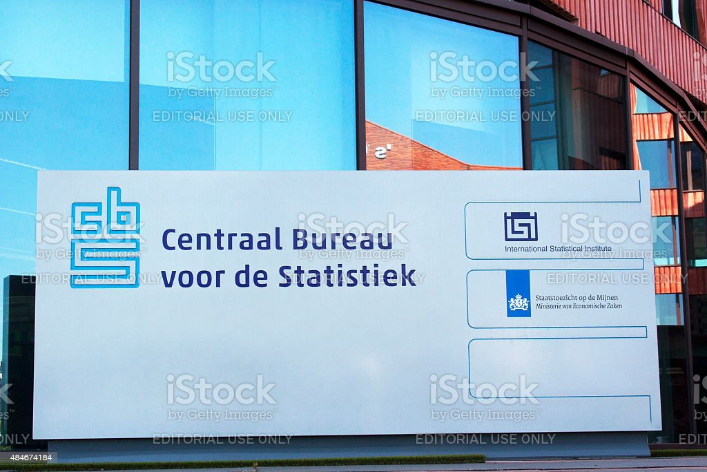 Central Bureau of Statistics (CBS) detail stock photo
