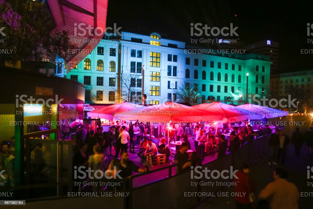 Central bus station in Munich stock photo