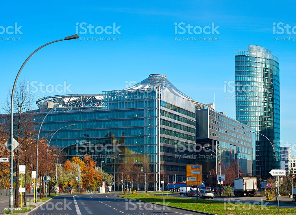 Central businees district of Berlin stock photo