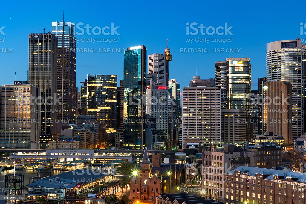 Central Business District cityscape stock photo