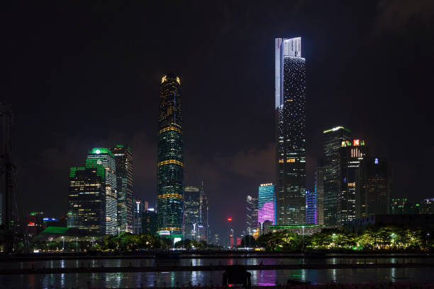 Central business district in Guangzhou stock photo
