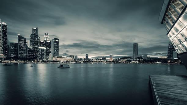 Central Business District in Singapur bei Dusk – Foto