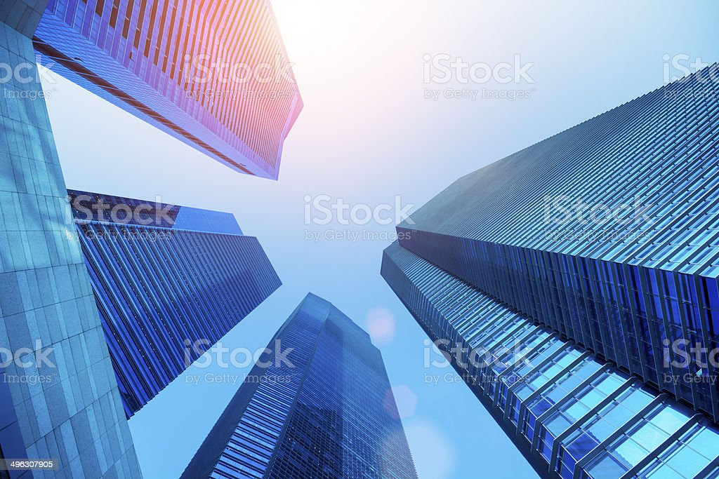 Central Business District in Singapore stock photo