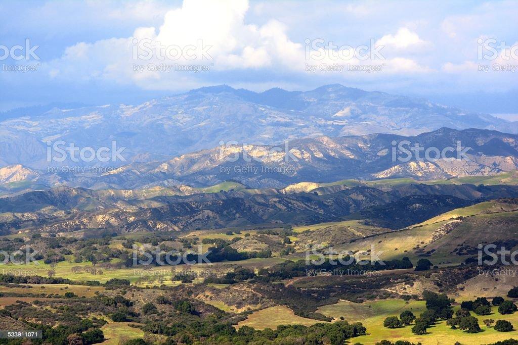 Central California Mountain Range stock photo