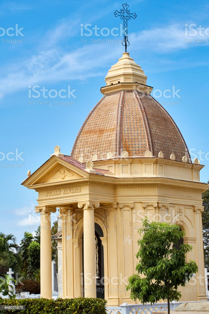 Central Cathedral, Colon Cemetery, Havana, Cuba stock photo