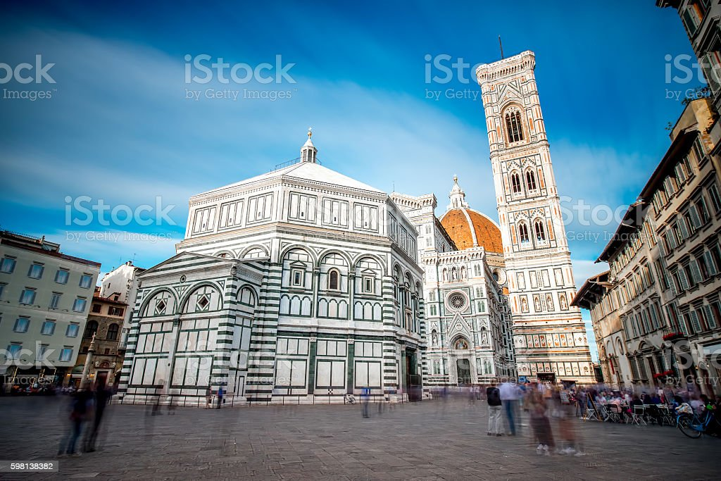 Central cathedral in Florence stock photo
