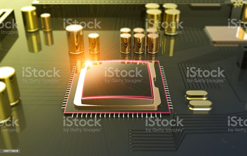 Central Computer Processor CPU concept stock photo