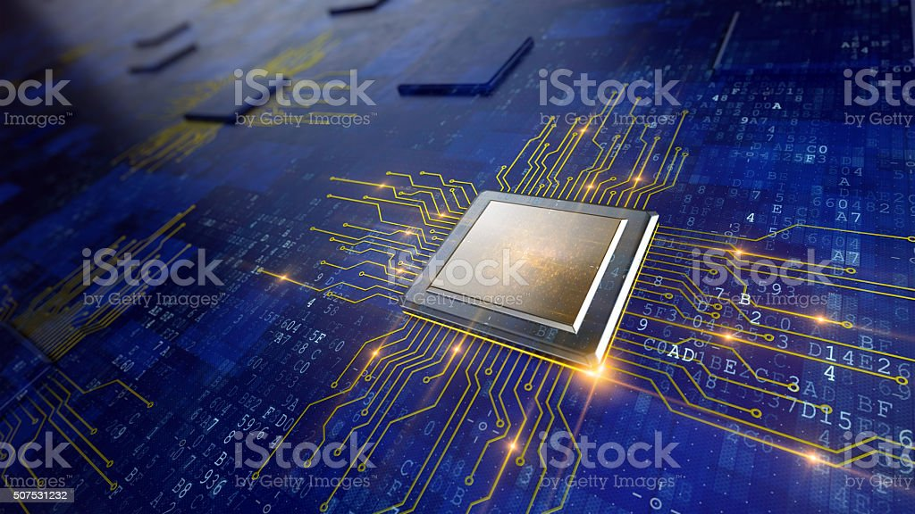 Central Computer Processor stock photo