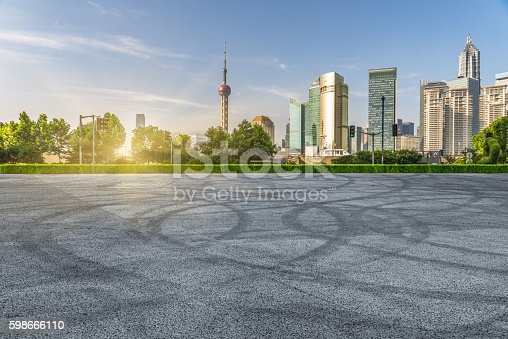 istock central district of shanghai at sunset 598666110